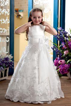 TBDress - TBDress A-line Ankle-length Sleeveless Appliques & Bowknot Flower Girl Dress - AdoreWe.com