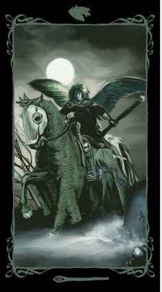 Page of Wands Dark Angels tarot