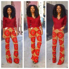 African Fabric, Ankara, African Shop. African Print Ankara Pant | FashionGist.com