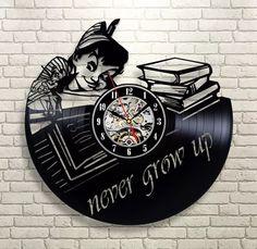 Peter Pan vinyl record clock