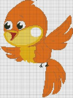 Cross Stitch Bird, Cross Stitch Charts, C2c Crochet, Baby Quilts, Tigger, Tweety, Pikachu, Disney Characters, Fictional Characters