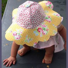 012829c3611 The Daisy Doodle Sun Hat is GREAT for sun protection and is sized infant  through adult