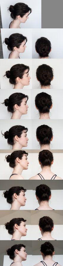 Head Turnaround - Top to Bottom Profile by Kxhara