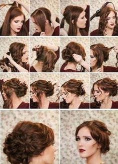 Gorgeous up do for any occasion!