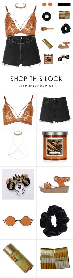 """""""♡ she fell in love with the medicine she's on"""" by deli-lemonade ❤ liked on Polyvore featuring Topshop, RE/DONE, River Island, Michael Kors, American Apparel, KING and country"""