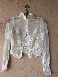 Image of Paris Lace Victorian gypsy romantic one of a kind vintage blouse