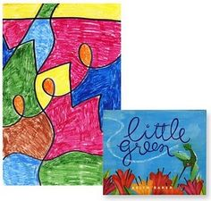 "Kinder line Art. Use with book ""Little Green"" by Keith Baker."