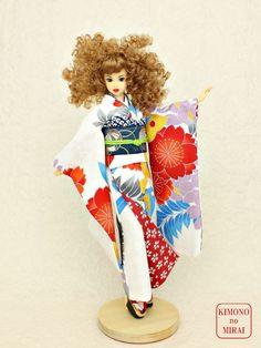 Free shipping! Japanese KIMONO dress,dolls Jenny,Momoko,Pullip White Furisode #ClothingAccessories