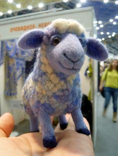 The wool toy SheepNeedle FeltingChilds ToyNeedle by FireFlyFelt