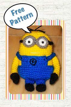 free despicable me minion amigurumi crochet pattern