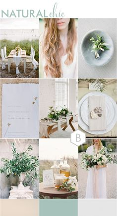 Natural and Chic | Wedding Moodboard for Bohemian Luxe, Rustic Luxe and Fine Art Weddings | Created by Goose + Berry exclusively for BLOVED Blog