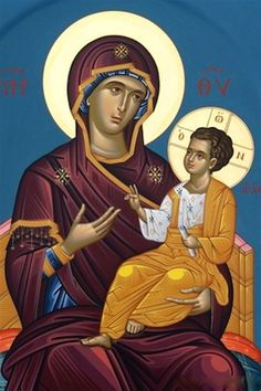Panagia 1 Greek Orthodox Icon Blessed Mother Mary, Blessed Virgin Mary, Religious Icons, Religious Art, Jesus And Mary Pictures, Greek Icons, Art Populaire, Mama Mary, Russian Icons