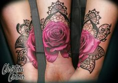 Laced+Rose+Forearm+Tattoo