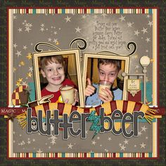 Butterbeer.. OMG, I love this Harry Potter layout! I DIE!