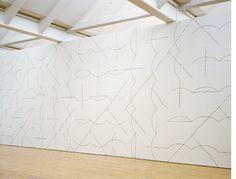 Wall drawing #136 : Arcs and Lines, Sol Lewitt, 1972