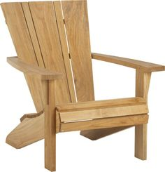 Vista Adirondack Chair  | Crate and Barrel