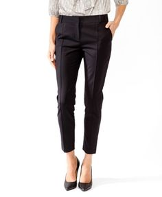 Essential Pintucked Ankle Trousers | FOREVER21 - 2025100628
