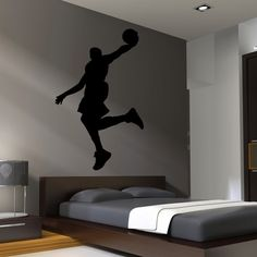 Basketball Wall Decal Decor Art Stickers Boys Room by HappyWallz