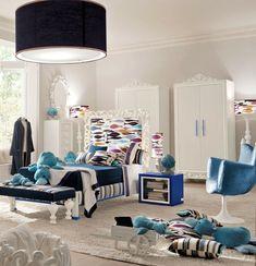 komplettes Jugendzimmer, elegante Kinderzimmermöbel