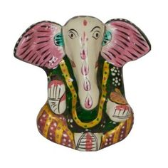 Amazon.com: Hindu God Statue Hand Painted Ganesha Sculpture: Home & Kitchen