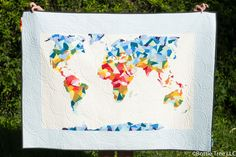 World map quilt pattern map quilt pdf and patterns fabri quilt asked me to make them a quilt using their solids to display at quilt market i have been wanting to try my scrappy applique methods using only gumiabroncs Gallery