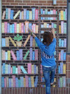 Interactive chalk mural: Art of Apex High School, art one