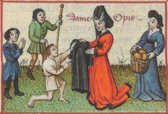 « Le Champion des Dames, » par « MARTIN LE FRANC, prevost de l'église de Lausane. » (1440).  Date d'édition :  1401-1500  Français 12476  Folio 91r