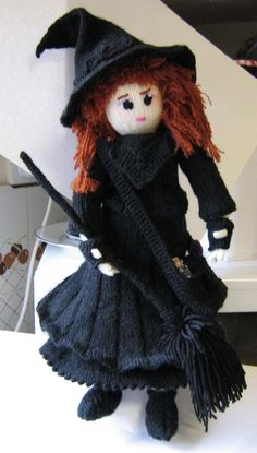 Elizabeth Witch - the first of the dolls with many accessories to knit. Great fun and of course magic.
