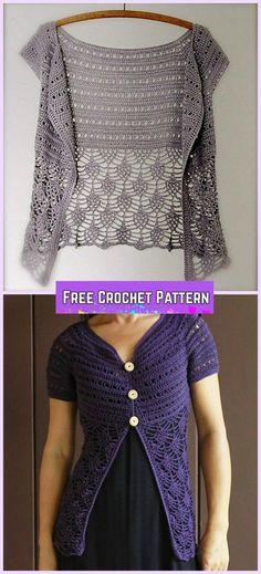 Crochet Ariane Cardigan Free Pattern for Women