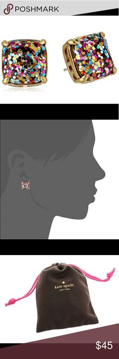 Kate Spade Small Square Stud Earrings Kate Spade Multicolor Small Square Stud Earrings. NWT. Gold plated. kate spade Jewelry Earrings