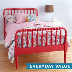 Jenny Lind Kids Bed (Raspberry) | The Land of Nod