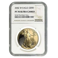 2002-W 1 oz $50 Gold American Eagle Proof Coin NGC PF 70