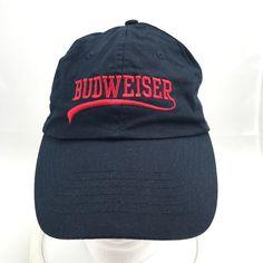 4f029fb92a8 Budweiser Beer Baseball Cap Hat Blue Adjustable Anheuser Busch  Budweiser   BaseballCap  ad Brewery