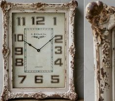 Fancy Wall Clock | Vintage Style Wall Clock | Shabby Chic Clock