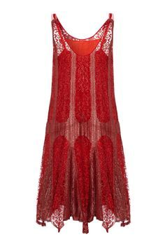 1920's Red and Silver Lame Flapper Dress | From a collection of rare vintage evening dresses at http://www.1stdibs.com/fashion/clothing/evening-dresses/