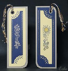 Night and Day Bookmarks by Etha - Cards and Paper Crafts at Splitcoaststampers