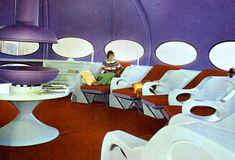 Inside the Futuro House - Designed by Finnish architect Matti Suuronen