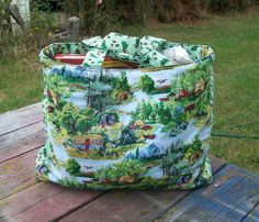 Camping Tote Bag Reusable Grocery Bag  shopping Bag Ready to
