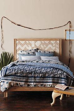 The beautifully patterned, made-to-layer Kerry Cassill Indigo Resort Quilt is handcrafted by skilled artisans in India using a traditional block printing technique.