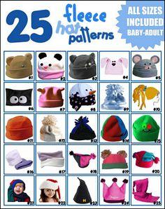 fun fleece hat ideas Fleece Crafts 9a576f491426