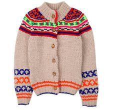 Glorious neon patterned Bellerose cardigan at Little Fashion Gallery for kidswear winter 2012