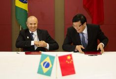 UH OH - China and Brazil agreed to trade in each other's currencies just hours ahead of the BRICS summit in South Africa.