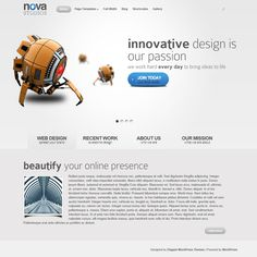 Nova WordPress Theme   Premium Wordpress Themes - A Responsive WordPress theme with video demo