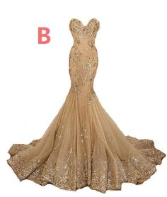Long mermaid gold lace up open back elegant shining gorgeous elegant prom