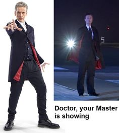 The new Doctor is channelling the Master #doctorwho #petercapaldi #johnsimm alez-on-mars.tumblr.com/post/74752902663