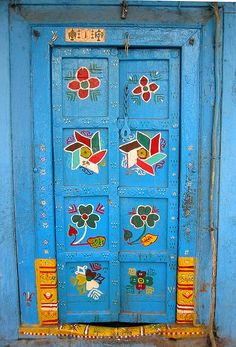 500 year old door in Sadashiv Peth, Pune, Maharashtra, India.