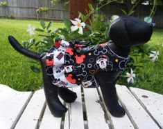 "Mickey Mouse"" ruffle dress style, dog harness dress, harness dresses made by doggiedesignsbyjamie"