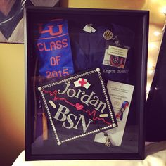 My nursing school shadow box!