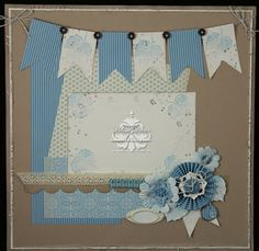 Boy layout by scrappedon - Cards and Paper Crafts at Splitcoaststampers