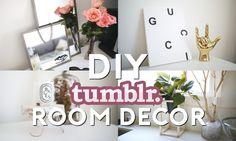 DIY Tumblr Room Decor | Minimal & Easy  ✂️  - Vintage Mirrors, Geometric Pot Holder, Rustic Stump Stand